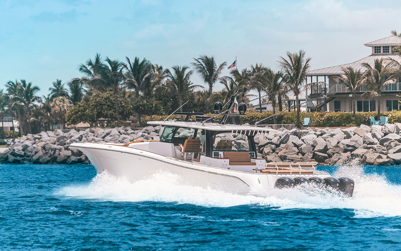 Estrella Charters with view of five 425 Hp Yamaha Engines