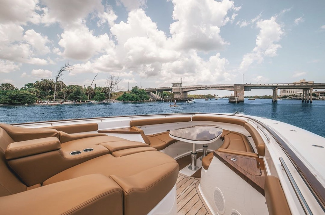 bow shot of luxury charter boat rental